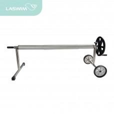 Сматывающее устройство LASWIM передвижное с редуктором, штанга телескопическая 2,1х 3=6.3 м
