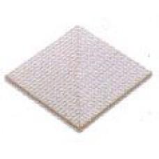 Угловые элементы противоскользящей плитки с сетчатой поверхностью (12,5х12,5)