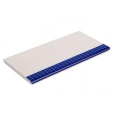 Противоскользящая плитка с буртиком, частично глазурованная (12,5х25)
