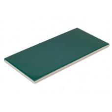 Плитка фарфоровая Serapool глазурованная темно-зеленая (12,5x25 см)