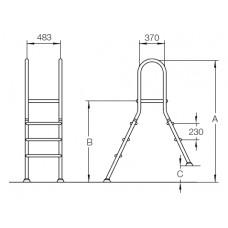 Лестница двухсторонняя 1+4 ст. Flexinox ESC PNS 87143418