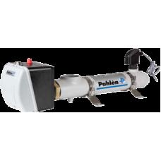 Электронагреватель с датчиком давления . 1-полюсный термостат 0-45°C, 1-полюсная защита от перегрева 60°C (Макс 2,5 bar, 12 кВт)