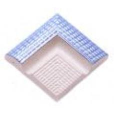 Наружные угловые элементы поручней с сетчатой поверхностью (12,5х12,5см)